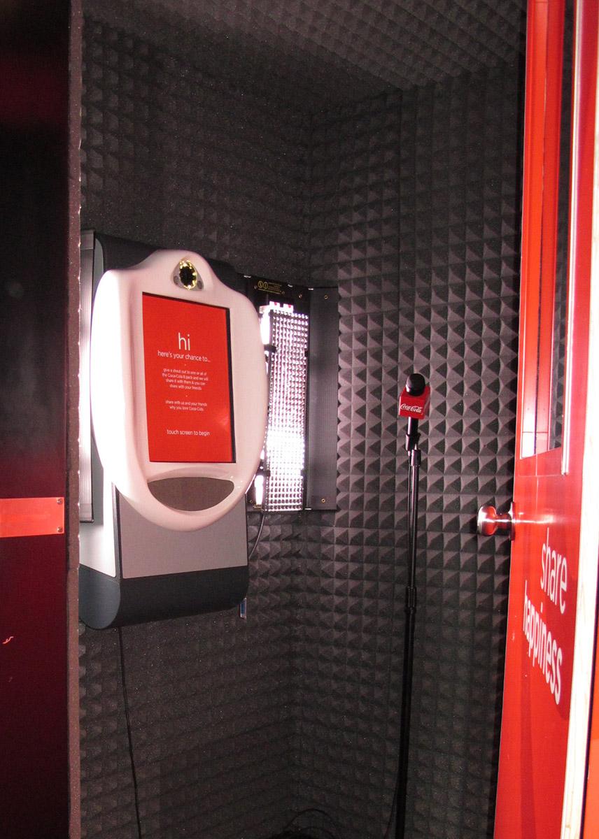 Coke Video Booth using Wall Mount VideoKiosk