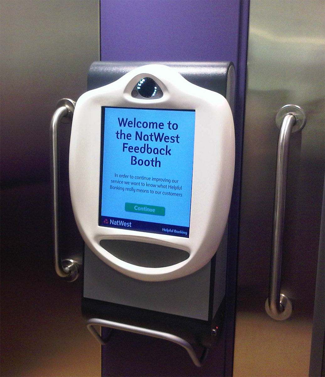 NatWest Feedback Booth using Wall Mount VideoKiosk